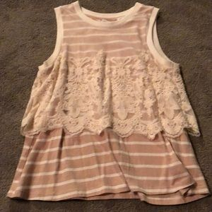 Anthropologie Postmark size M tank with lace